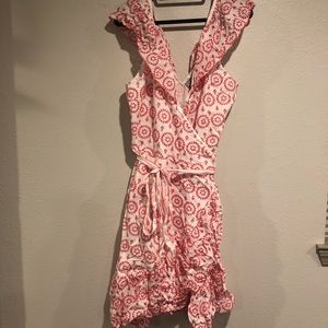 ASOS PREMIUM Embroidered Wrap Dress